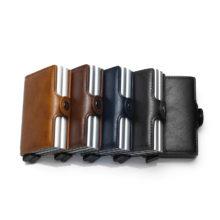 Men's Aluminium Leather Wallet