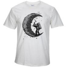 Men's Moon Printed T-Shirt