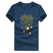 Men's Abstract Printed Cotton T-Shirt