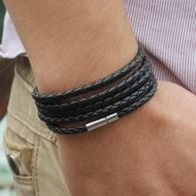 Men's Luxury Leather Bracelet