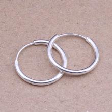 Round Hoop Earrings