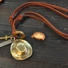 Genuine Leather Men's Pendant Necklaces