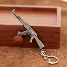 Men's Antique Silver Plated Weapon Keychain