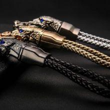 Luxurious Tiger's Head Metal Men'sKeychain