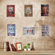 Vintage Collection Metal Wall Signs