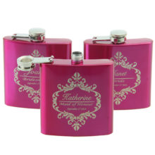 Cute Personalized Eco-Friendly Stainless Steel Bride's Hip Flasks