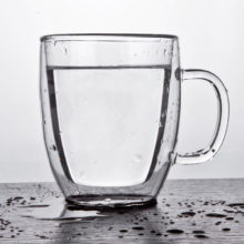 Heat Resistant Transparent Glass Mug
