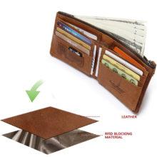 Men's RFID Blocking Bifold Wallet