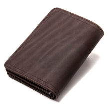 Slim Leather Wallet with Clasps for Men