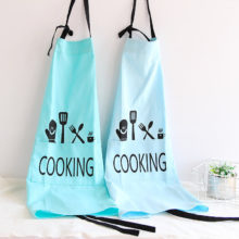 Creative Inscribed Wearproof Linen Kitchen Apron