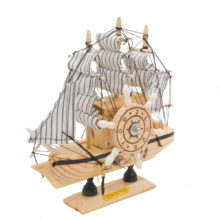 Vintage Wooden Sailing Ship Model