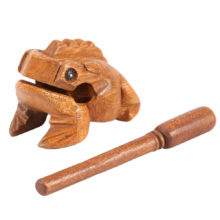 Lucky Wooden Frog Figurines