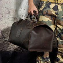 Vintage Genuine Leather Duffel Bag for Men