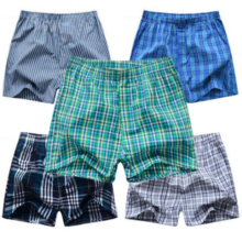 Men's Classic Underwear with Plaid Pattern