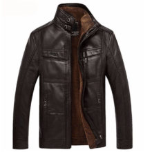 Winter Leather Jacket For Men