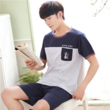 Casual Cotton Pajama Set for Men