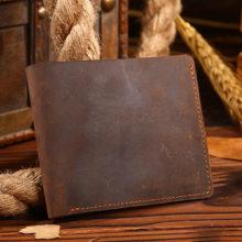 Men's Rough Leather Wallet