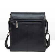Business Vertical Genuine Leather Men's Handbags