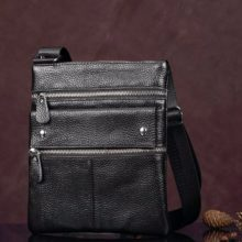 Business Slim Genuine Leather Messenger Bag