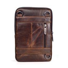 Genuine Cow Leather Men's Crossbody Bag