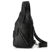 Men's Casual Leather Crossbody Bag with Adjustable Strap