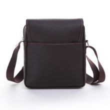 Men's Stylish Leather Shoulder Bag with Adjustable Strap