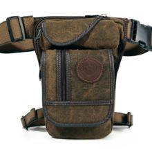 Men's Compact Canvas Crossbody Bag