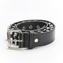 Creative Leather Belt with Bullets for Men