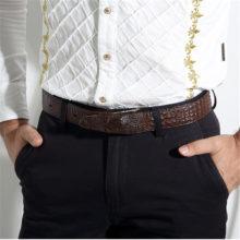 Luxurious Crocodile Style Belt