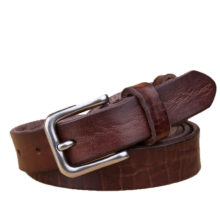Luxury Slim Cowboy Style Genuine Leather Belt