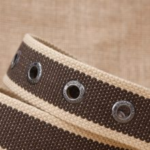Casual Military Striped Canvas Men's Belt