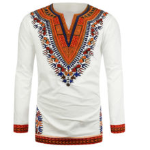 Traditional African Ornament Printed Men's Shirt