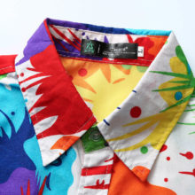 Colorful Striped Printed Party Men's Shirt