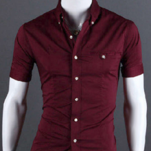 Fashion Summer Short-Sleeved Cotton Men's Shirt