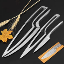 Stainless steel portable Knife Filleting Paring Slicing Steak Utility Kitchen Cleaver Knives Set 4 pcs