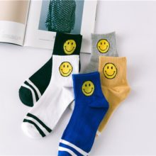 Cotton Smiley Striped Men's Socks 5 Pairs Set