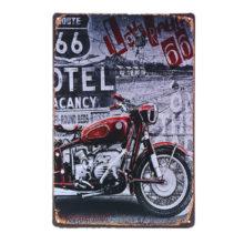 Vintage Motorcycle Printed Metal Sign