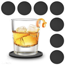 Laconic Style Black Silicone Cup Mats Set
