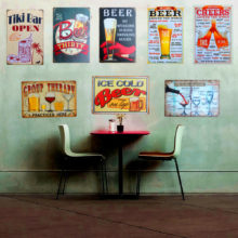 Cute Decorative Retro Styled Rectangular Metal Wall Poster