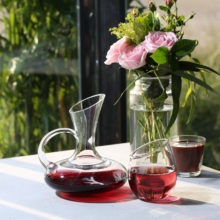 Geometric Shaped Glass Wine Decanters