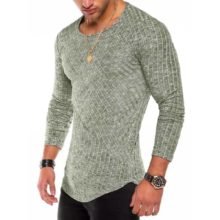 Stylish Casual Long-Sleeved Elastic Men's T-Shirt