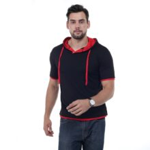 Men's Hooded Short-Sleeved Top