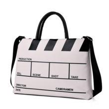 Creative Film Сlapperboard Men's Leather Bag