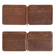 Billfold Genuine Leather Money Clip for Men
