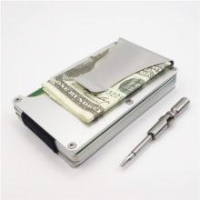 Carbon Fiber Protective Men's Cardholder with Mini Screwdriver