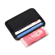 Slim Genuine Leather Credit Card and ID Holder